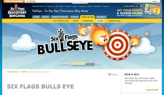 sixflags.com bulls eye game